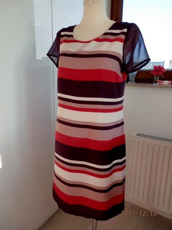Suknie i sukienki Sukienka Next Śliwkowa Fioletowa Pudełkowa 38