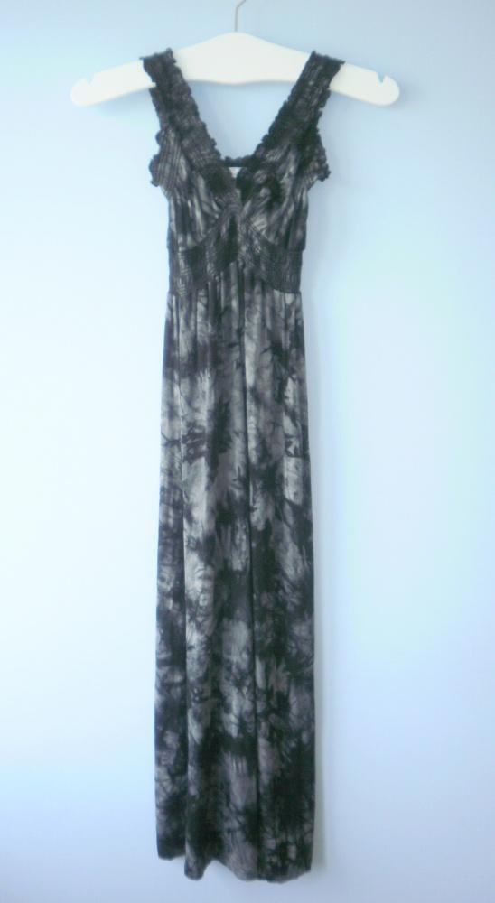 Stella sukienka maxi acid marmurkowa szara