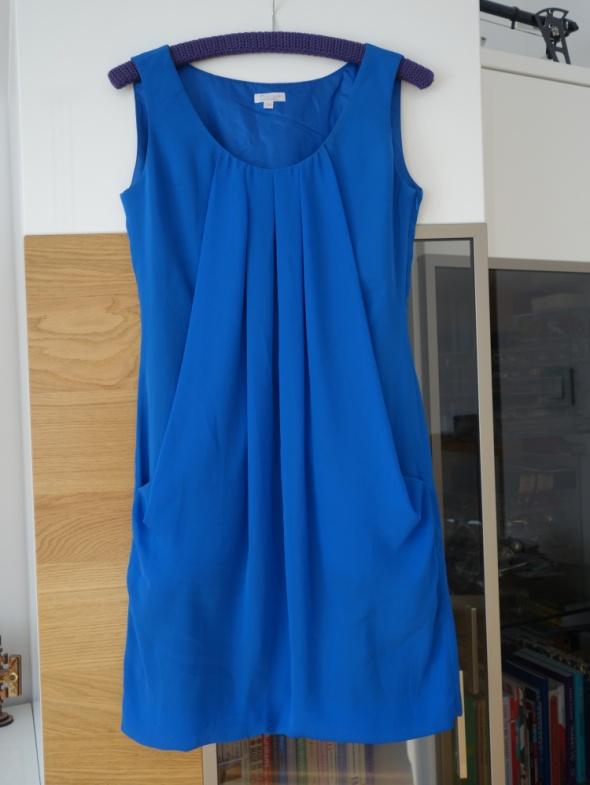 SOLAR 34 XS małe S niebieska sukienka bombka tiulowa