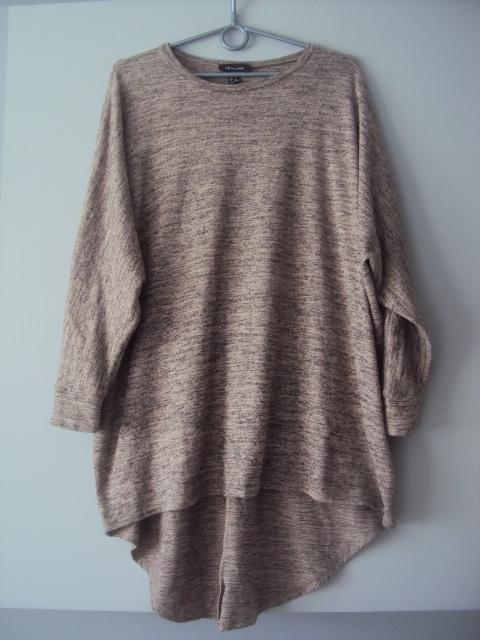 melanzowa sweterkowa tunika