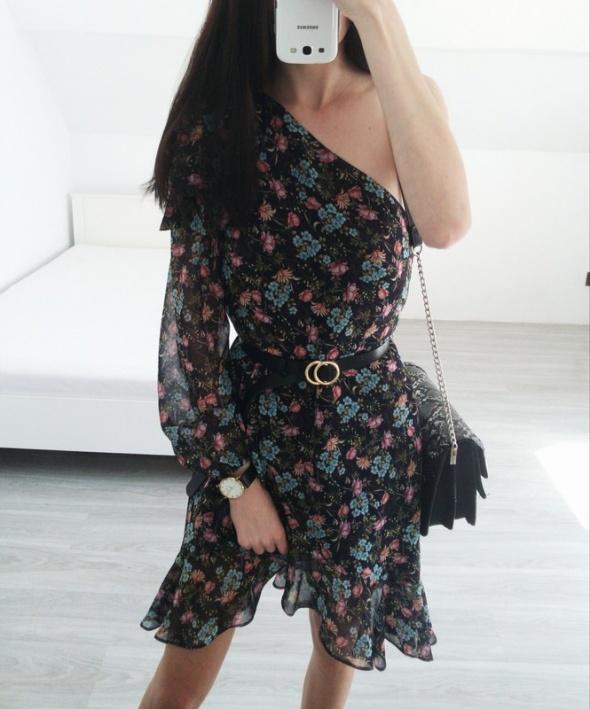 sukienka mango w kwiaty
