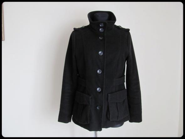 Płaszcz H&M czarny klasyczny 40 L