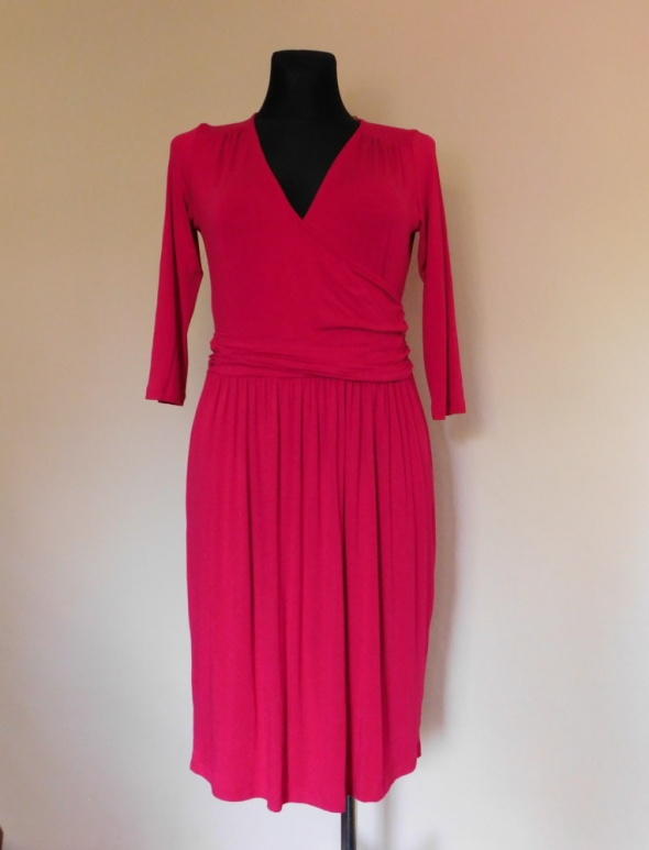 Esprit sukienka midi fuksja różowa 40 42