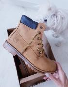 Nowe zimowe buty brązowe trapery ocieplane 40...