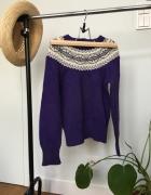 Dziewczęcy fioletowy sweterek na 6 lat...