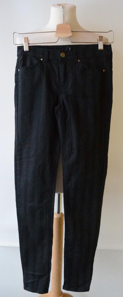 Spodnie H&M XS 34 Pasy Paski Czarne Rurki Divided
