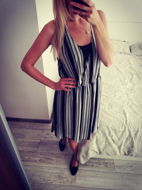 Sukienka w paski h&m 38...