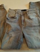 Szare jeansowe spodnie rurki Zara 34...