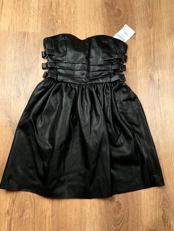 Mini sukienka skóra...