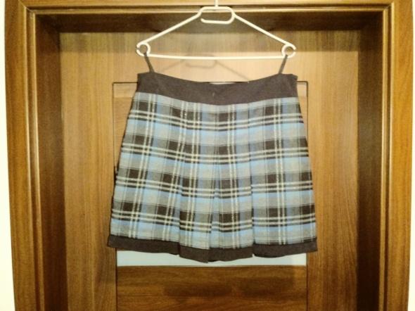 Jesienna spódnica w kratkę L XL