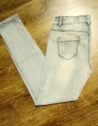Jasne jeansy l xl w pasie guma...
