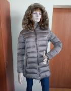 Komplet kurtka zimowa czapka szal rękawiczki...