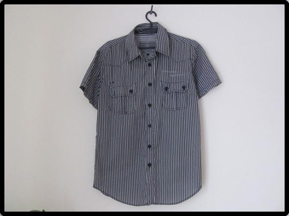 Koszula męska czarno biała rozmiar S i M