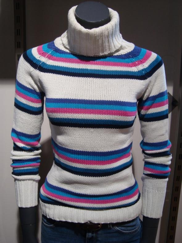 Golfy Kolorowy Golf Sweter S Terranova