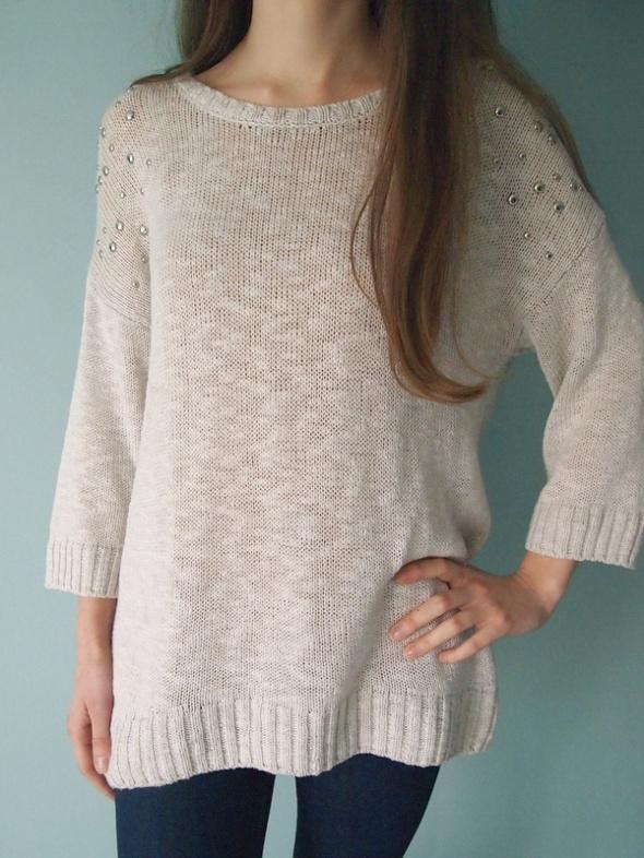 Kremowy sweter George 40 L oversize 38 36 sweter...