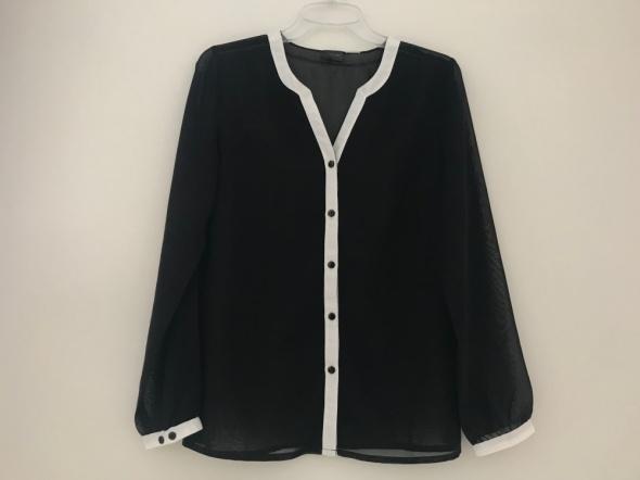 Bluzki elegancka czarna bluzka mgiełka
