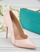 Nowe szpilki Lost Ink 39 różowe jasnoróżowe buty na obcasie czu...