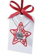Nowy naszyjnik z karteczką na życzenia prezent...