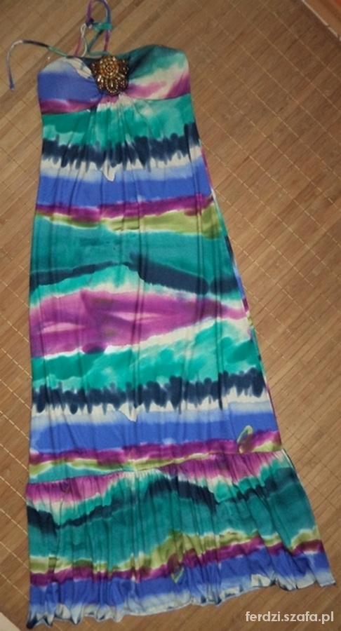 Sukienka długa cieniowana