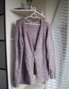 Liliowy sweterek kudłaty...