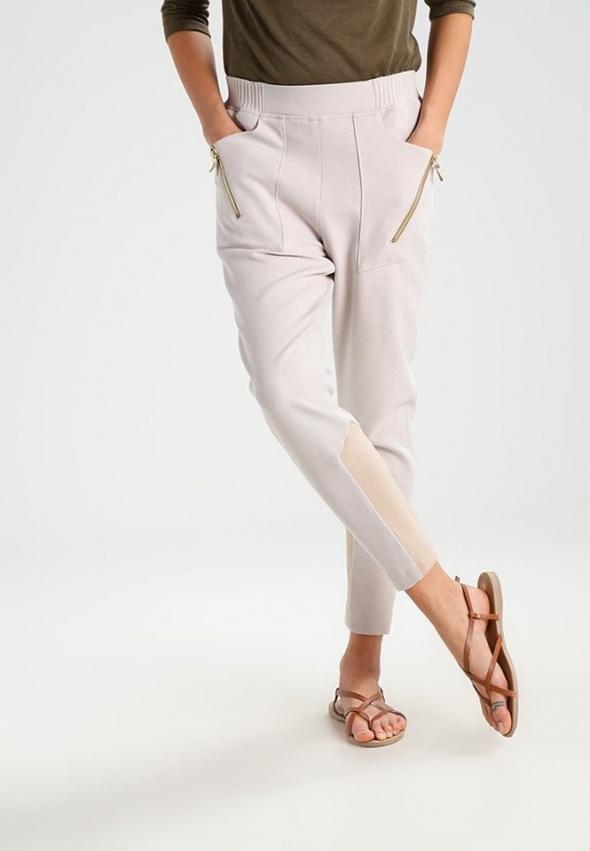 Okazja Mos Mosh johanna spodnie joggersy soft beige
