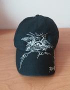 Czarna czapka z daszkiem C&A haft czaszka emo punk rock...