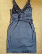 granatowa sukienka 40...