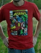 czerwona koszulka super heroes...