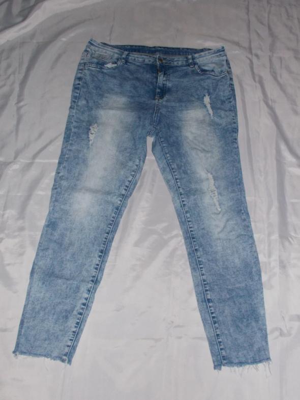 Spodnie dżinsowe jeansy z przetarciami spodnie elastyczne 44 46 48