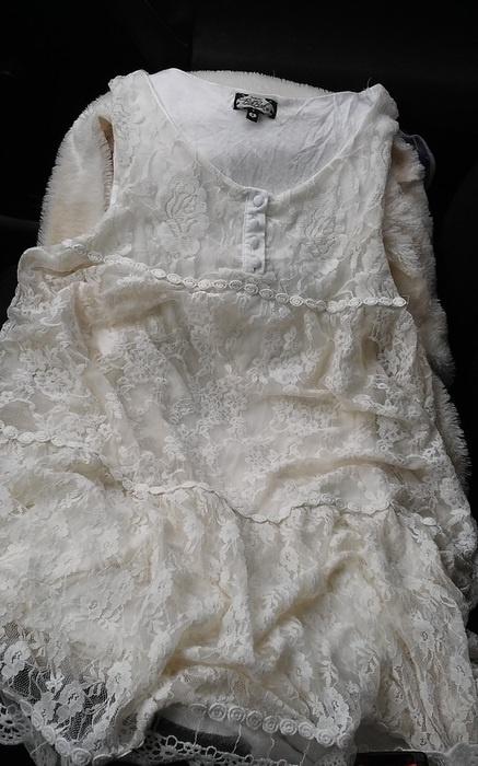 Beżowa kremowa sukienka koronka Bik Bok r S...