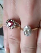 Złote pierścionki kolczyki...