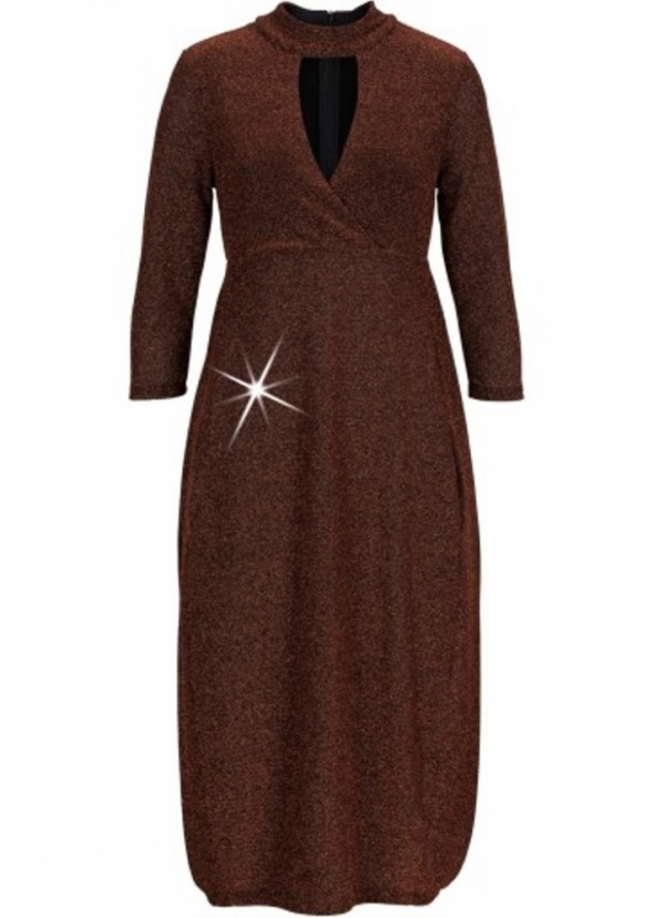 Elegancka sukienka z połyskiem choker...