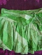 zielona spódniczka...