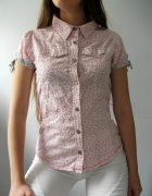 Bluzka różowa w kwiatuszki koszula zapinana XS...