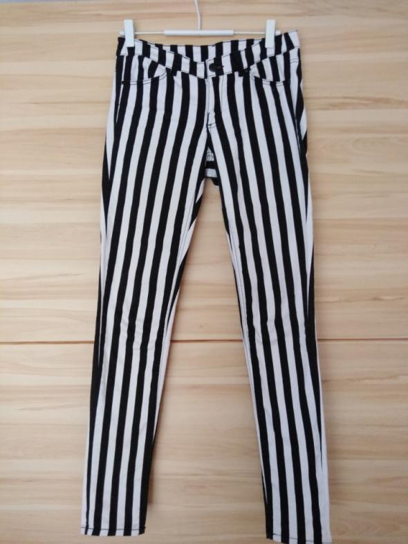 Spodnie rurki jeansy pasiaste H&M 38M...