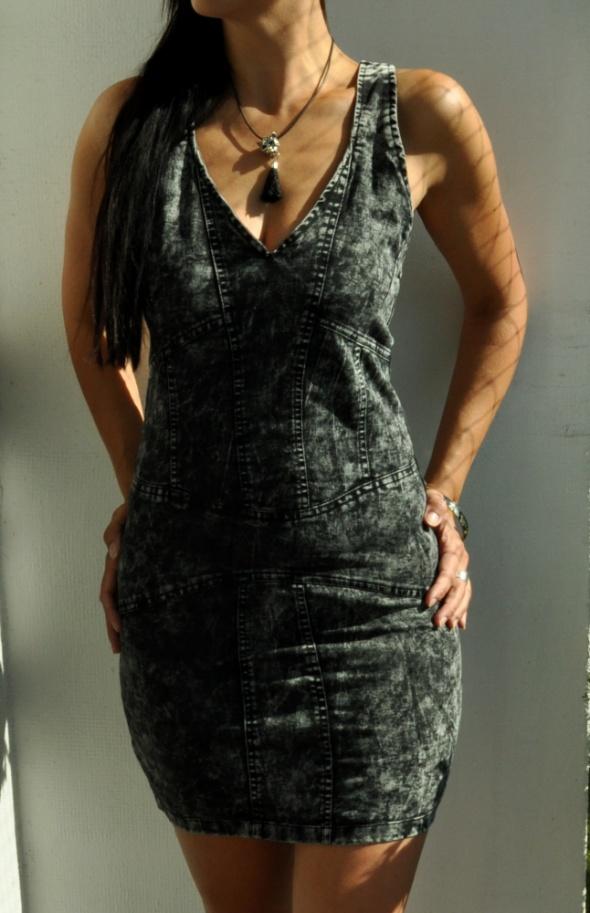 jeansowa sukienka marmurek...