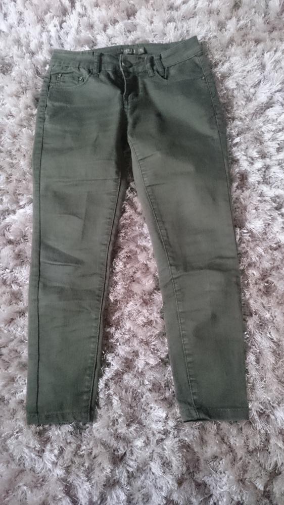 spodnie khaki...