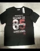 Nowa koszulka czarna bawełna In Extenso rozmiar L...