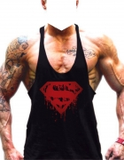 Koszulka bokserka XXL superman na lato na ramiaczkach silownia...
