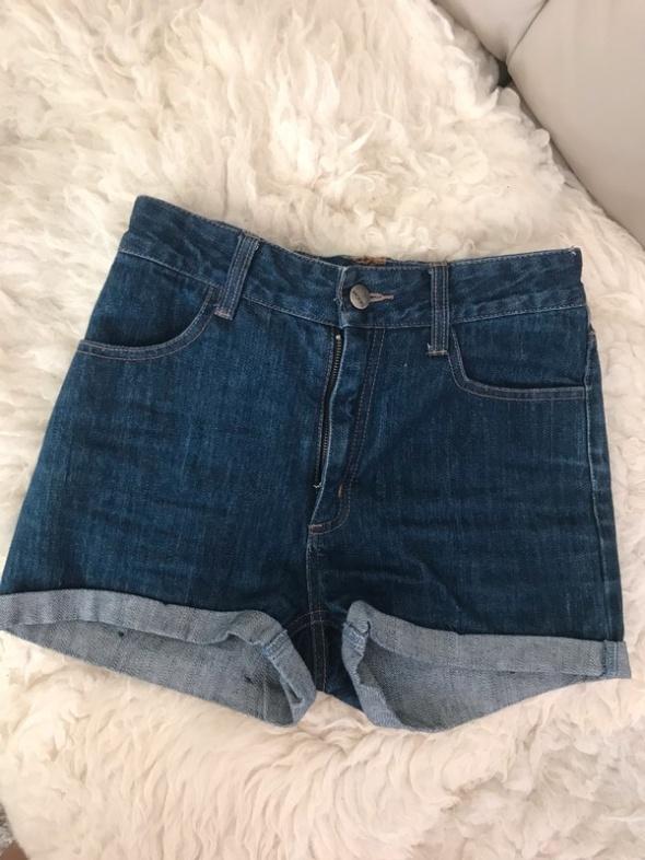 ciemne jeansowe szorty spodenki monki 34 36