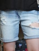 Krótkie spodenki szorty bermudy długie dłuższe jeansowe dżinsow...