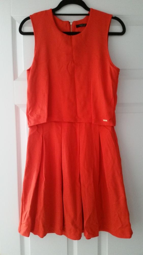 Mohito pomarańczowa rozkloszowana sukienka z topem