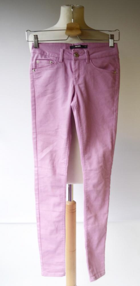 Spodnie Rurki Cukierkowy Róż Bik Bok XS 34 Różowe Pastelowe...