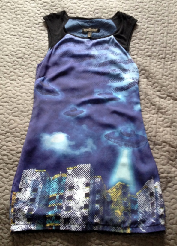 ATTRATTIVO sukienka print ufo S 36 NOWA
