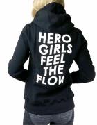 bluza Gym Hero czarna hero girls feel the flow M...
