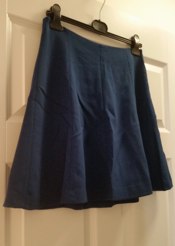 Reserved granatowa spódnica mini rozkloszowana