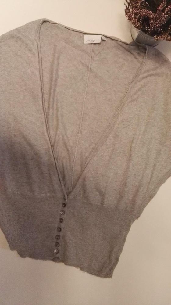 Szary New Look Sweterek nietoperz 38