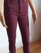 Bordowe dopasowane spodnie r M...