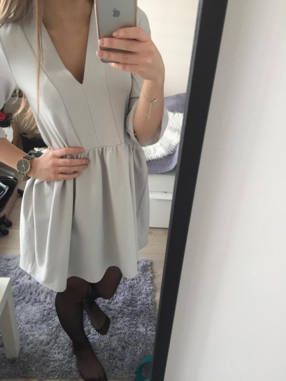sukienka beżowa szara asos nowa...