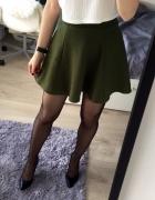 zielona khaki spódnica H&M...